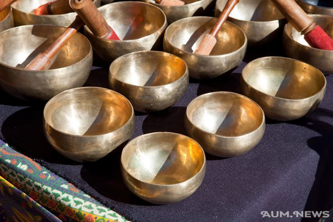 Тибетские поющие чаши для медитации