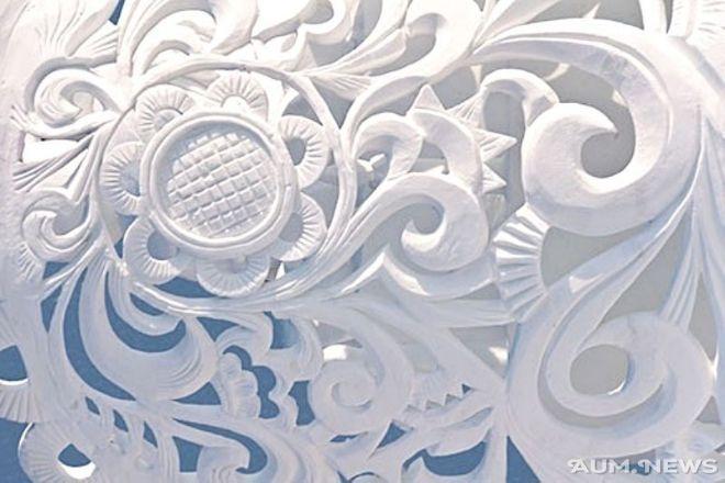white relief