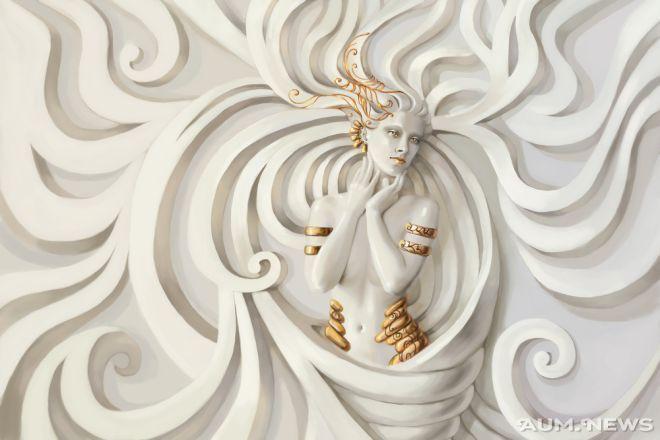 white stone woman